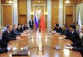 В.Путин провел рабочую встречу с Я.Цзечи