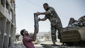 Сирийская армия в пригороде Дамаска. Архив