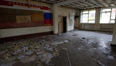 Пустующие здания училища связи