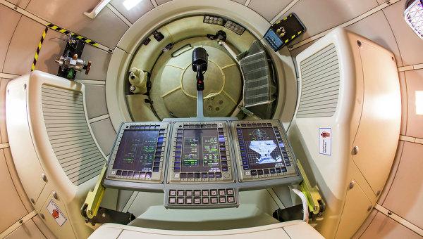 Полномасштабный макет пилотируемого транспортного космического корабля нового поколения. Архивное фото
