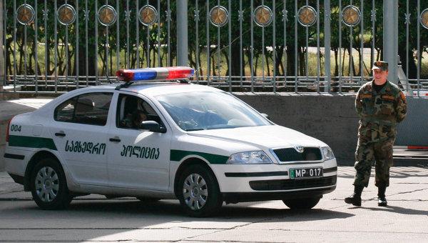 Сотрудник патрульной полиции МВД Грузии. Архивное фото