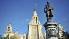 Главное здание МГУ им. М.В. Ломоносова, архивное фото