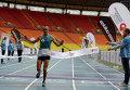 Победитель Московского марафона Александр Матвейчук.