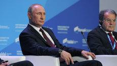 В. Путин на заседании дискуссионного клуба Валдай, фото с места событий