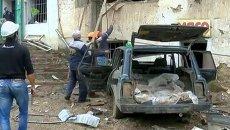Спасатели разбирали завалы здания полиции после теракта в Дагестане