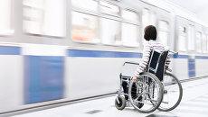 Инвалид в метро. Архивное фото