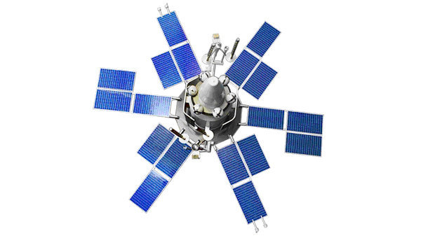Спутник связи серии Молния. Архивное фото