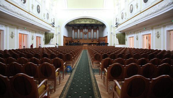 Большой зал Московской государственной консерватории имени П.И. Чайковского. Архивное фото