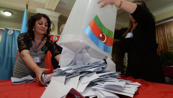 Подсчет голосов по итогам выборов президента Республики Азербайджан