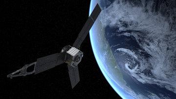 Зонд Джуно во время пролета рядом с Землей