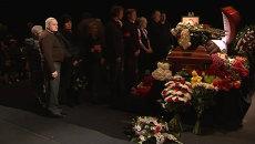 Коллеги прощались с Марцевичем, рассказывая о его жизни со сцены театра
