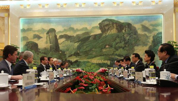 Визит Д.Медведева в Китай, фото с места события