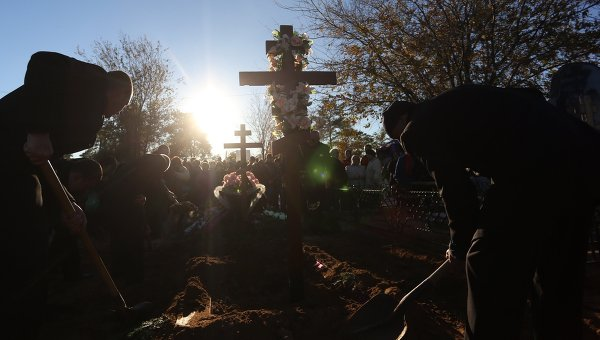 Похороны погибших в теракте в Волгограде