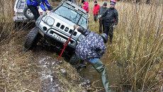 Финальные гонки внедорожников по бездорожью в Томске