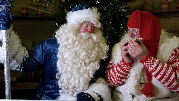 Российский Дед Мороз встречается с норвежским Юлениссеном