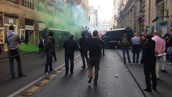 Акции протеста в Италии. Архивное фото