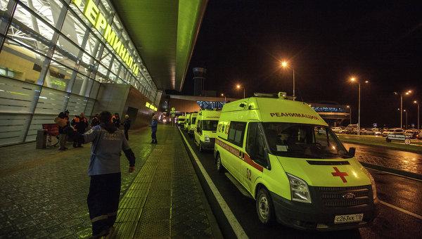 Машина Скорой помощи у первого терминала аэропорта Казани