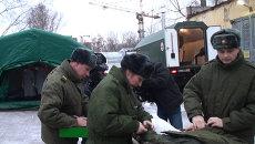 Медицинский спецназ показал спецпалатку, где за час моются 90 солдат
