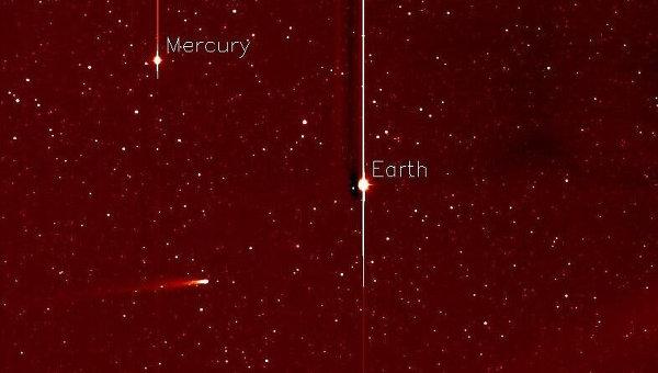 Снимок кометы ISON с космического телескопа Стерео-А