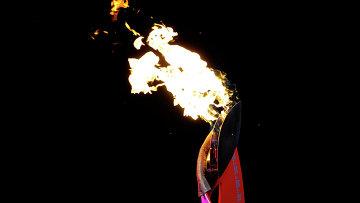 Эстафета Олимпийского огня в Красноярске