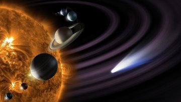 Макет Солнечной системы. Архивное фото