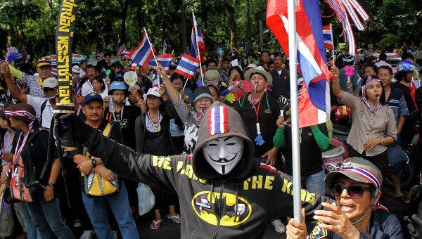 Массовые демонстрации в Бангкоке. 27 ноября 2013