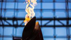 Символическая олимпийская чаша в ДВФУ во Владивостоке