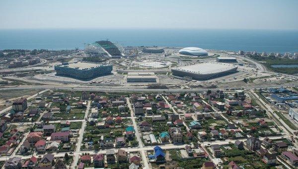 Олимпийский парк в Сочи с высоты птичьего полета