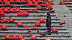 Трибуна стадиона Лужники. Архив