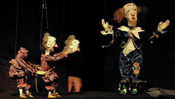 Сцена из спектакля Рамона Тбилисского театра марионеток Резо Габриадзе. Архивное фото