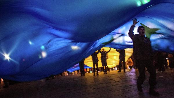 Ситуация на Украине в связи с вопросом евроинтеграции. Архивное фото