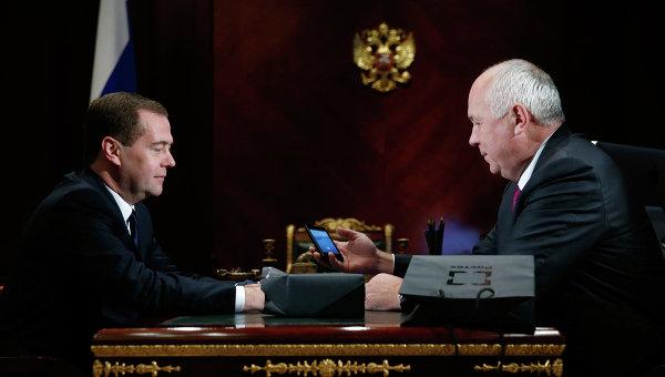 Встреча Д.Медведева с С.Чемезовым