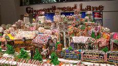 Домики и ратуша из сладкого: как выглядит пряничная деревня весом 1,5 тонны