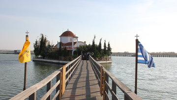 Подворье Ватопедского монастыря на крохотном островке