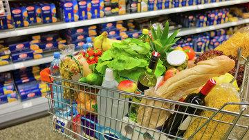 cesti alimentari.  foto d'archivio