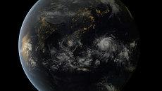 Супертайфун Хайян на спутниковых снимках
