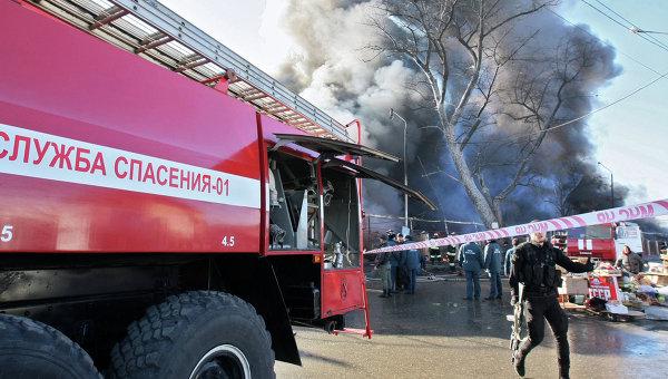 Грозный. Пожарная машина. Архивное фото