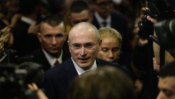 Михаил Ходорковский в Берлине. 22 декабря 2013