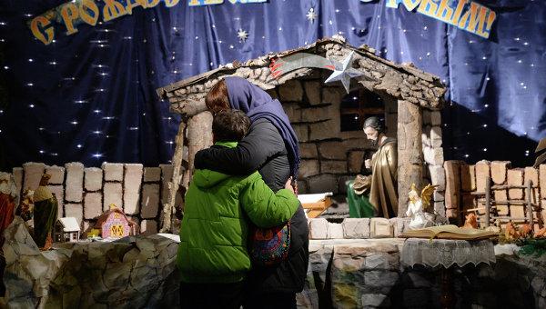 Празднование католического Рождества в России