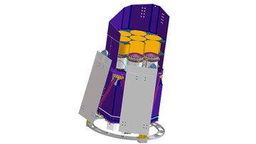 Модель рентгеновского телескопа eROSITA, который будет работать на борту российской обсерватории Спектр-РГ
