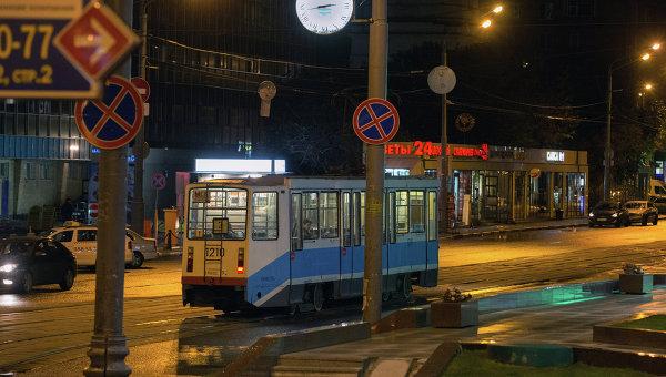 Трамвай в Москве. Архивное фото