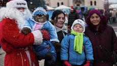 Новый год во Владивостоке: люди,  лошади,  концерты