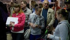 Авиапассажиры в томском аэропорту, архивное фото