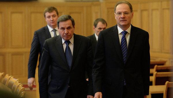 Вице-губернатор Владимир Городецкий и губернатор Новосибирской области Василий Юрченко
