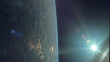 Планета Земля. Снимок сделан с пилотируемого лунного модуля Аполлон 11, архивное фото