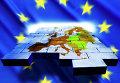 Карта Европы и символика Евросоюза