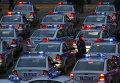 Служебные автомобили сотрудников ДПС