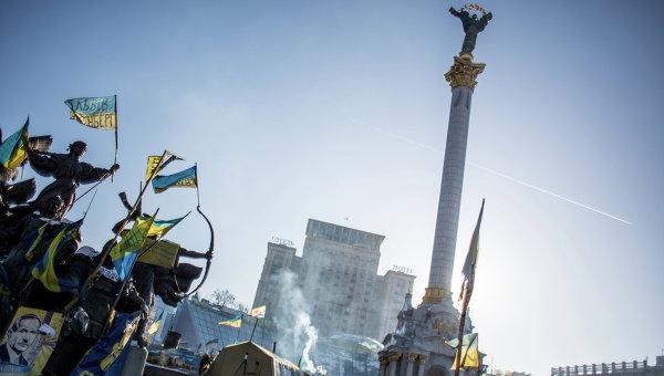 Палаточный лагерь оппозиции на площади Независимости в Киеве. Архивное фото
