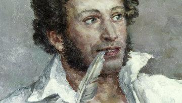 Картина Александр Сергеевич Пушкин Петра Кончаловского. Архивное фото