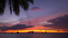 Закат на острове Боракай